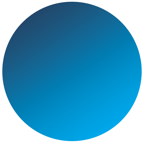 Blue Decorative Circle